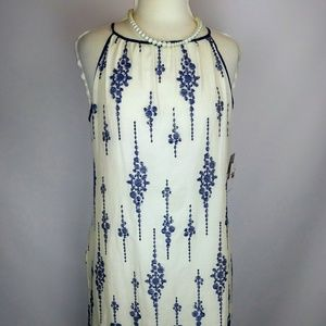 NWT Taylor Embroidered cotton shift dress.Sz10.I10